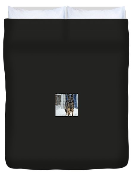 Duvet Cover featuring the photograph If You Dare by Nikki McInnes
