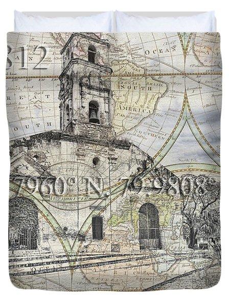 Iglesia De Santa Ana Passport Duvet Cover