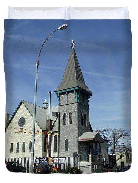 Iglesia Metodista Unida Church Duvet Cover