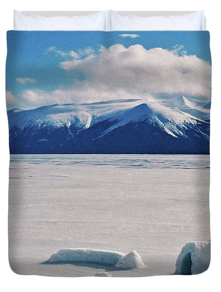 Igloo On Atlin Lake - Bc Duvet Cover by Juergen Weiss