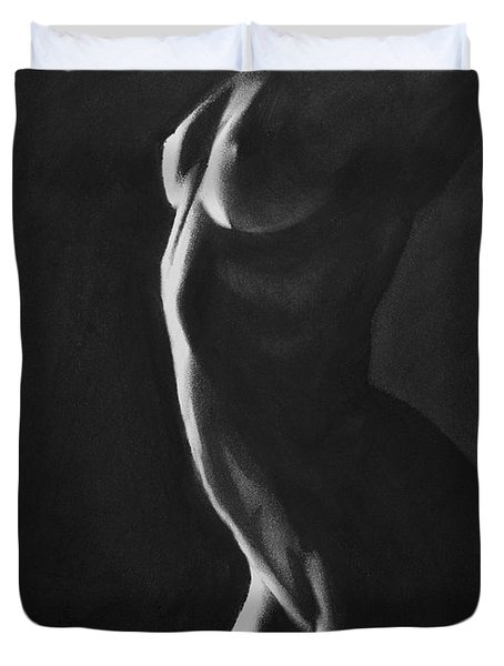 Ignite - Charcoal Duvet Cover
