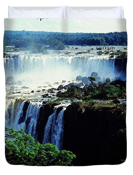 Iguacu Waterfalls Duvet Cover by Juergen Weiss