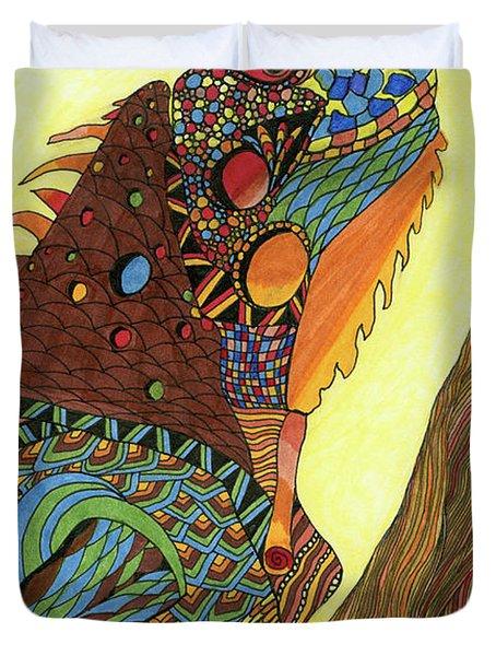 Iguana Duvet Cover