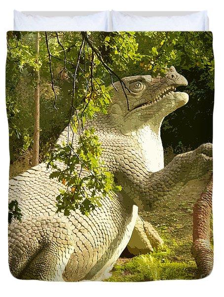 Iguanodon Pose Duvet Cover