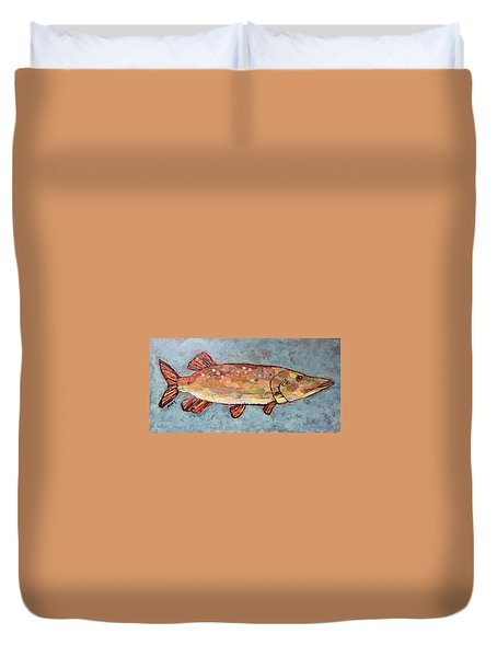 Ike The Pike Duvet Cover