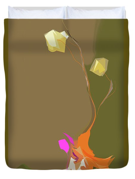 Ikebana Humoresque Duvet Cover
