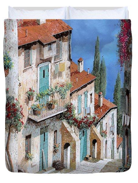Il Balcone Fiorito Duvet Cover