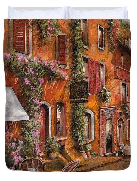 Il Bar Sulla Discesa Duvet Cover by Guido Borelli