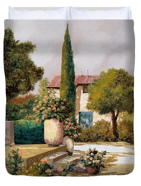 Il Cipresso Duvet Cover by Guido Borelli