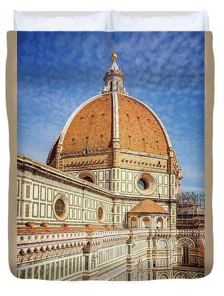 Duvet Cover featuring the photograph Il Duomo Florence Italy by Joan Carroll