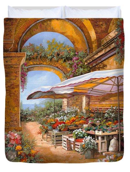 Il Mercato Sotto I Portici Duvet Cover