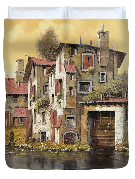 Il Mulino Giallo Duvet Cover by Guido Borelli