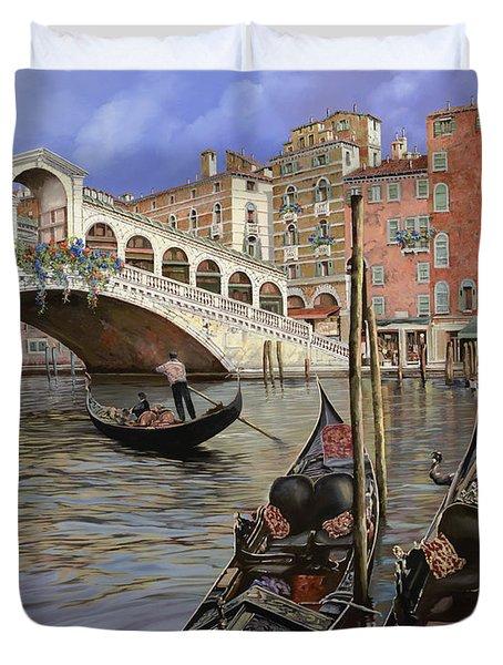 Il Ponte Di Rialto Duvet Cover