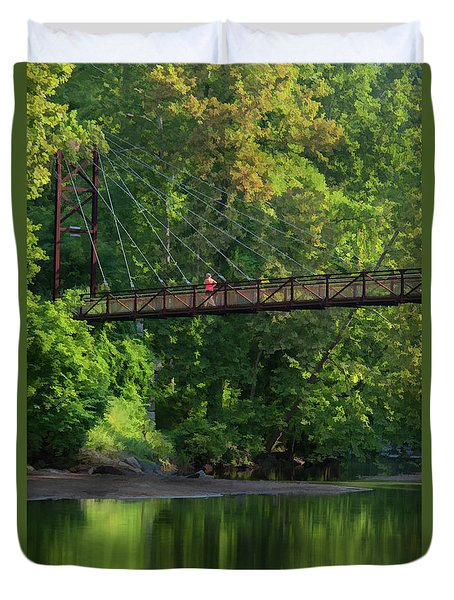Ilchester-patterson Swinging Bridge Duvet Cover