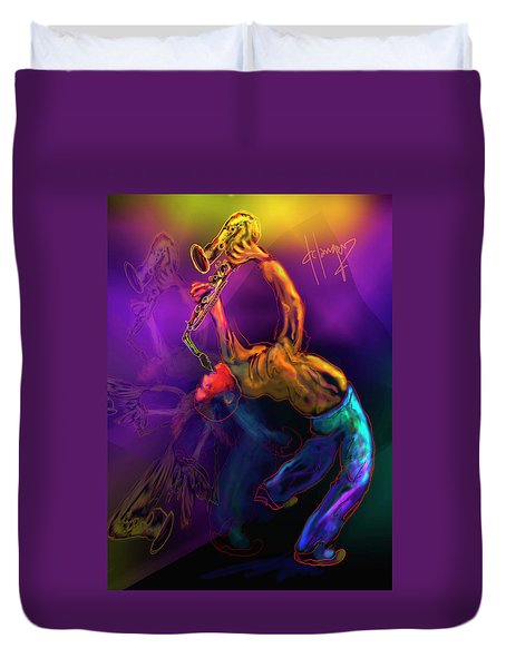 I'll Bend Over Backwards For Your Love Duvet Cover by DC Langer