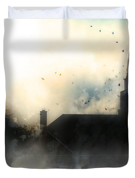 I'll Fly Away Duvet Cover by Gray  Artus
