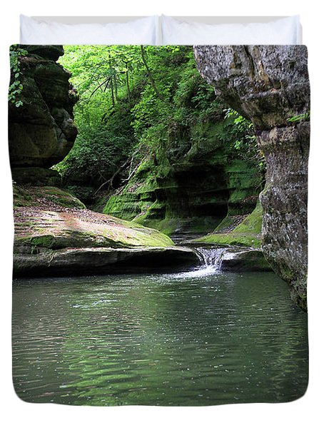 Illinois Canyon Summer Duvet Cover