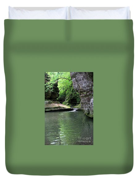 Illinois Canyon Summer Duvet Cover