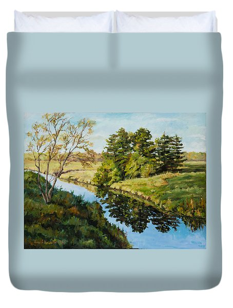 Illinois Countryside  Duvet Cover
