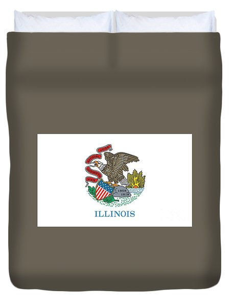 Illinois State Flag Duvet Cover by American School