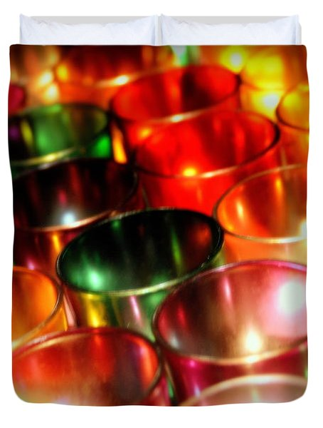 Illuminated Prayers Duvet Cover