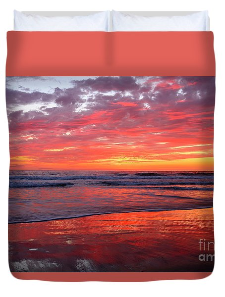 North County Waves Duvet Cover