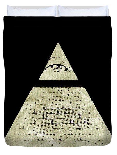 Illuminati Symbol By Raphael Terra Duvet Cover