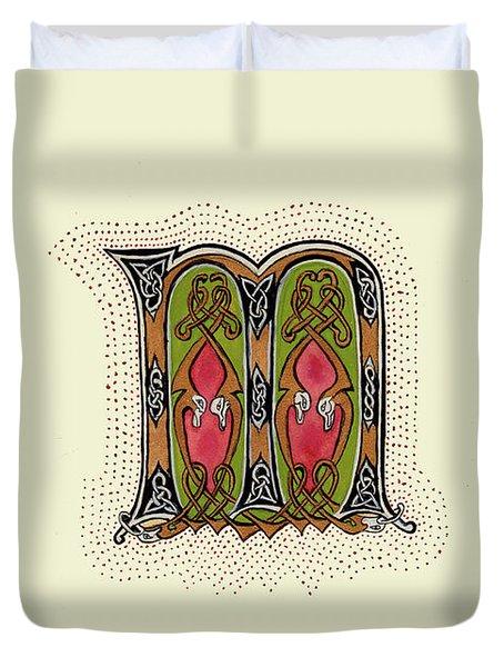 Illumination ' M ' Duvet Cover