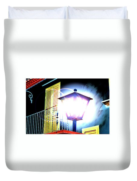 A Light In The Night Duvet Cover