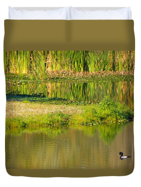 Duvet Cover featuring the photograph Illusion Confusion by Rosalie Scanlon