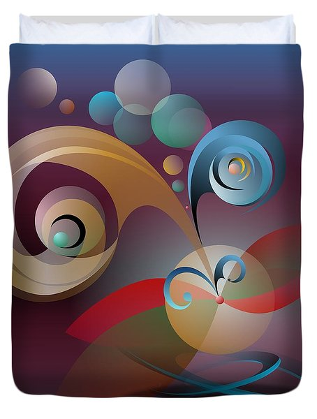 Illusion Of Joy Duvet Cover by Leo Symon