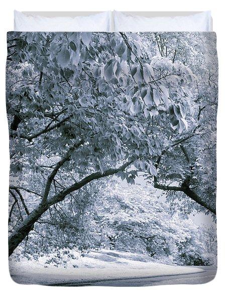 Illusion Of Winter Duvet Cover