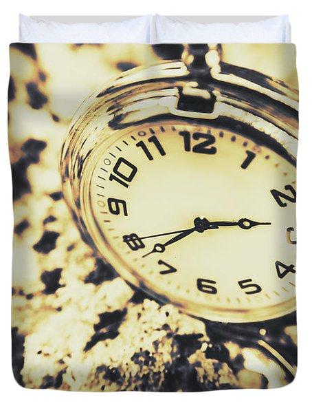 Illusive Time Duvet Cover