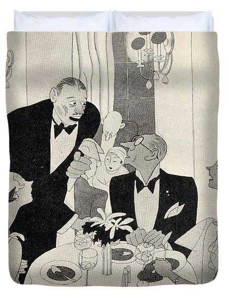 Illustration By Ralph Barton 1891 To Duvet Cover
