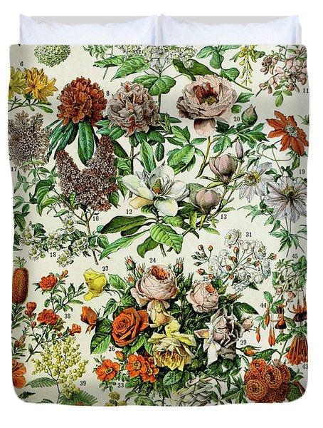 Illustration Of Flowering Plants Duvet Cover