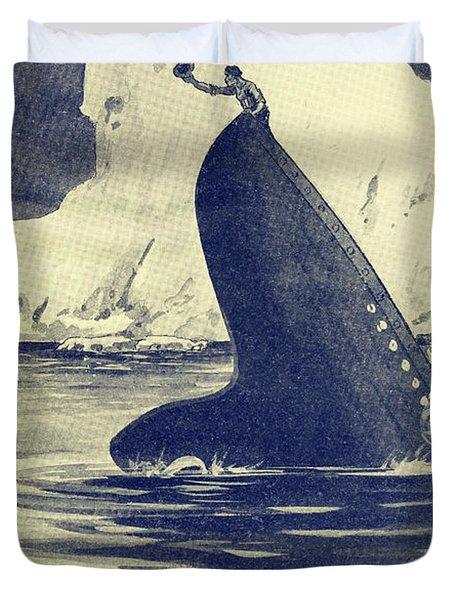 Illustration Of Man On Stern Of The Duvet Cover