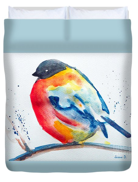 I'm Cold Duvet Cover by Jasna Dragun