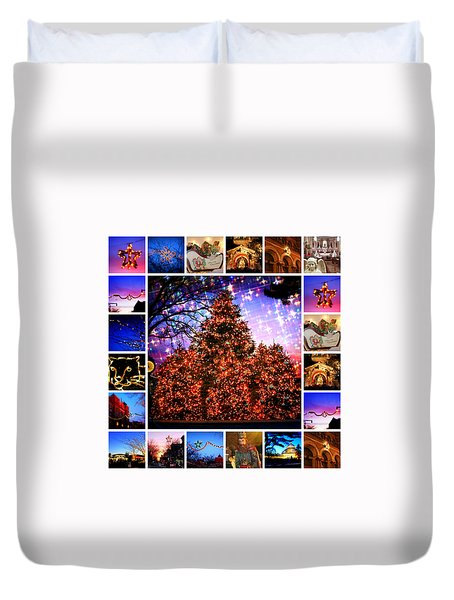 I'm Dreaming Of A Bronx Christmas Duvet Cover