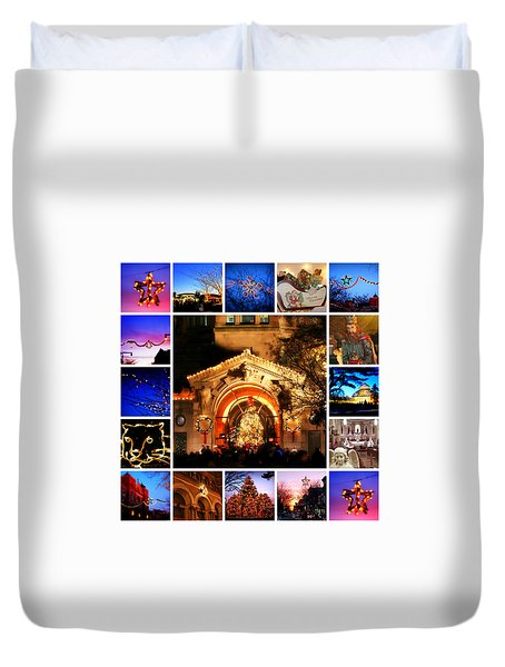 Duvet Cover featuring the photograph I'm Dreaming Of A Bronx Christmas II by Aurelio Zucco and Augusto Zucco