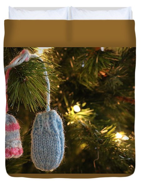 I'm Dreaming Of A White Christmas Duvet Cover by Living Color Photography Lorraine Lynch