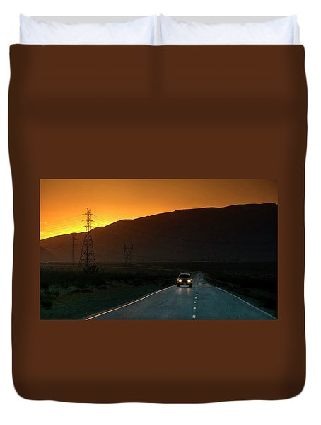 Duvet Cover featuring the photograph I'm Going Home Ten Years After by Peter Thoeny