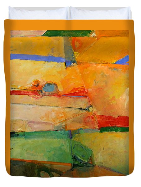 Duvet Cover featuring the painting I'm In Corn  by Cliff Spohn