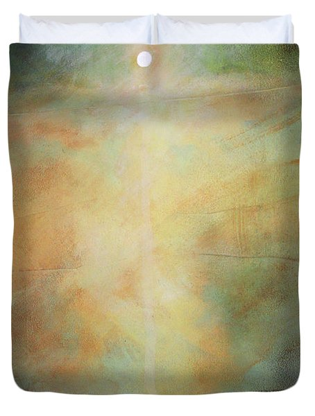I'm Never Alone Duvet Cover by Toni Grote