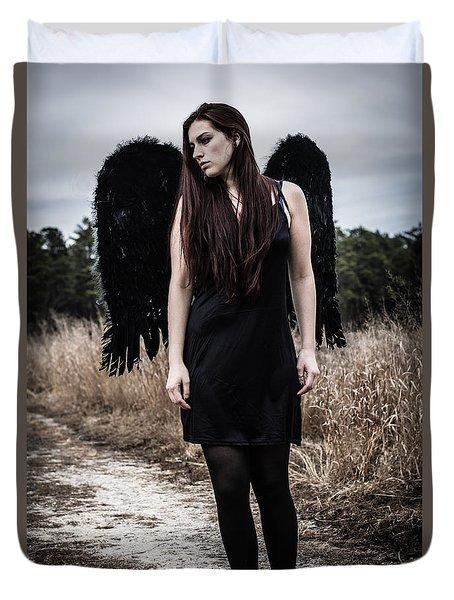 I'm No Angel Duvet Cover by Brian Hughes