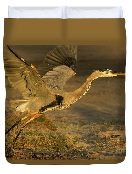 I'm Out Of Here Wildlife Art By Kaylyn Franks Duvet Cover