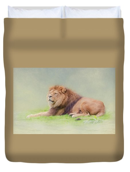 I'm The King Duvet Cover by Roy McPeak