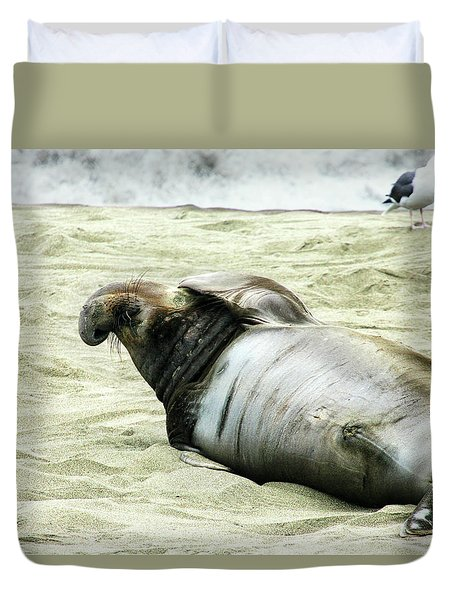 Duvet Cover featuring the photograph Im Too Sexy by Anthony Jones