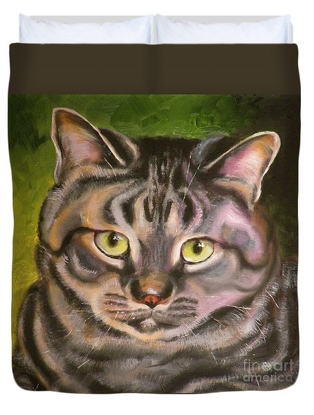 Im Your Man Tabby Duvet Cover
