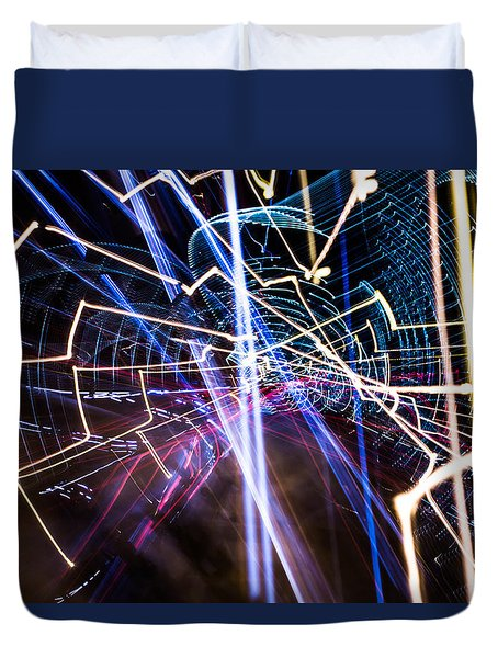 Duvet Cover featuring the photograph Image Burn by Micah Goff
