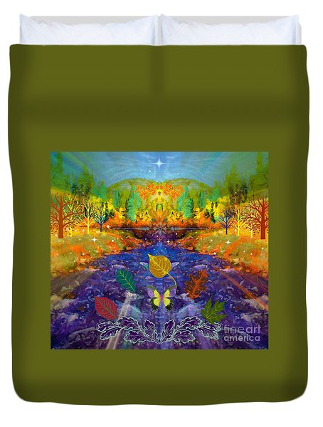 Imaginary Place Duvet Cover by Annie Gibbons